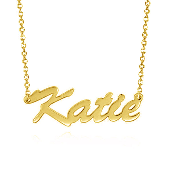 Katie - Adjustable Chain 925 Sterling Silver Personalized Name Necklace
