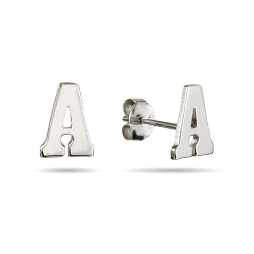 925 Sterling Silver Personalized Letter Stud Earrings