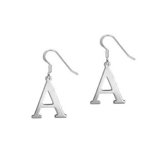 925 Sterling Silver Personalized Initial Earrings