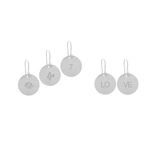 925 Sterling Silver Personalized Classic Disc Earrings