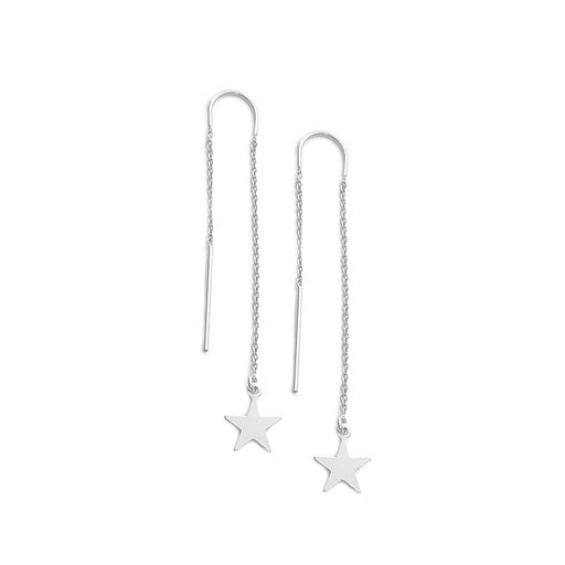 925 Sterling Silver Personalized Thread Earring with Star
