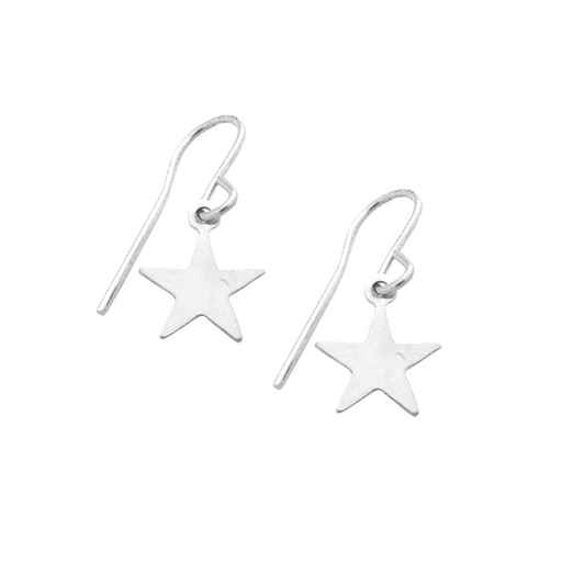 925 Sterling Silver Personalized Mini Star Earrings