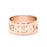 Copper/925 Sterling Silver Personalized Date Cut Out Ring