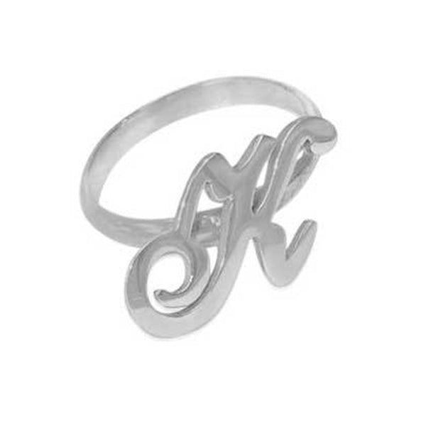 Copper/925 Sterling Silver Personalized Initial Ring