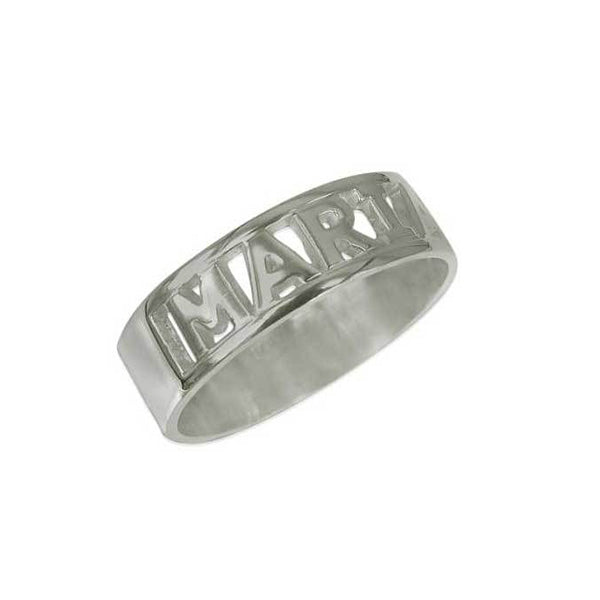 925 Sterling Silver Personalized Cut Ring