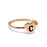 Copper/925 Sterling Silver Personalized Initial Heart Ring