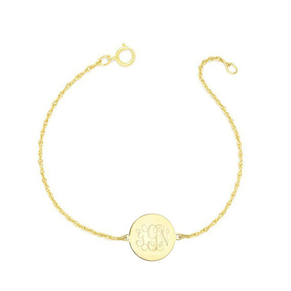 "925 Sterling Silver Personalized Engraved Monogram Bracelet Adjustable 6""-7.5"""