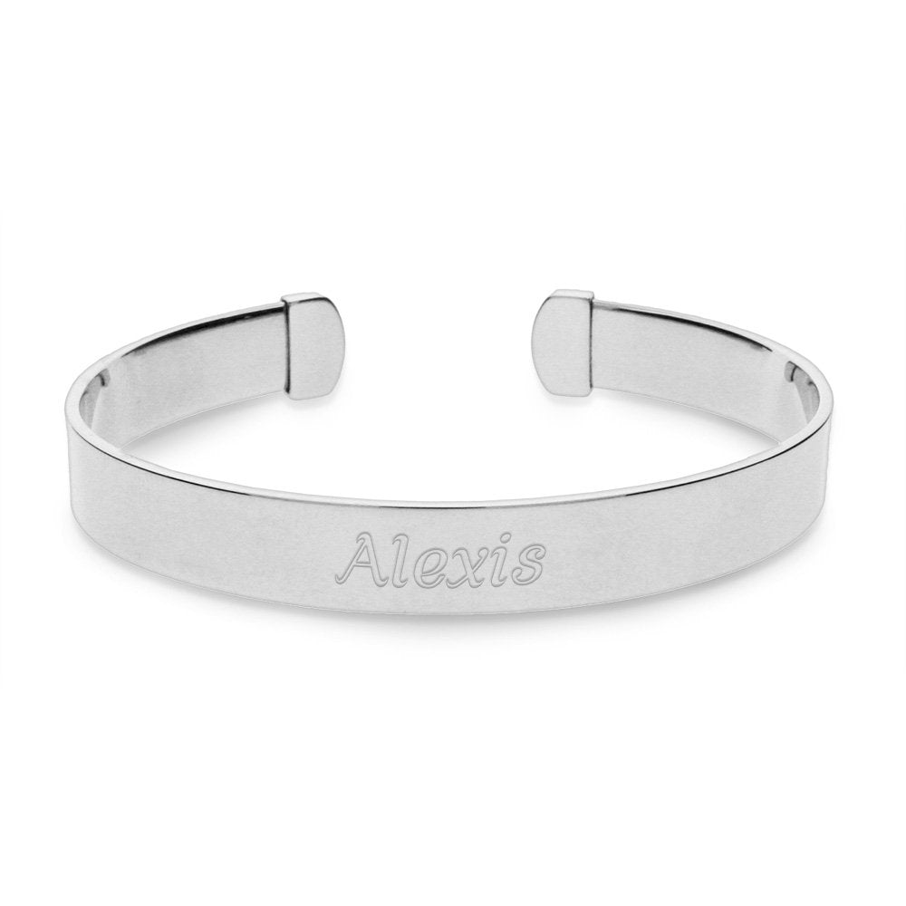 925 Sterling Silver Personalized Engravable Cuff
