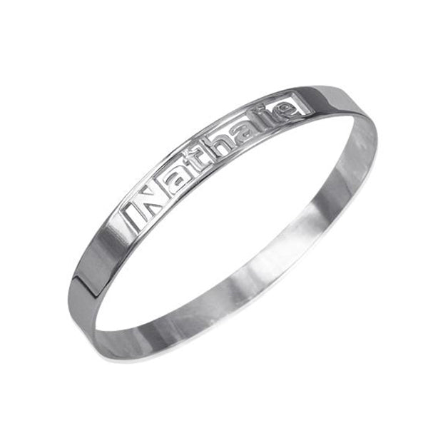 925 Sterling Silver Personalized Engravable Bangle Bracelet