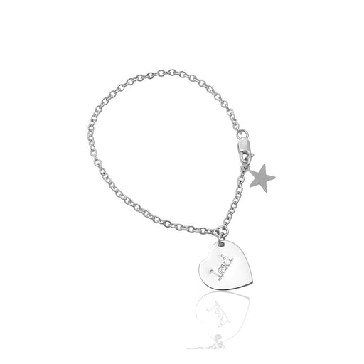 "925 Sterling Silver Personalized The Lexi - Children's Bracelet Adjustable 6""-7.5"""