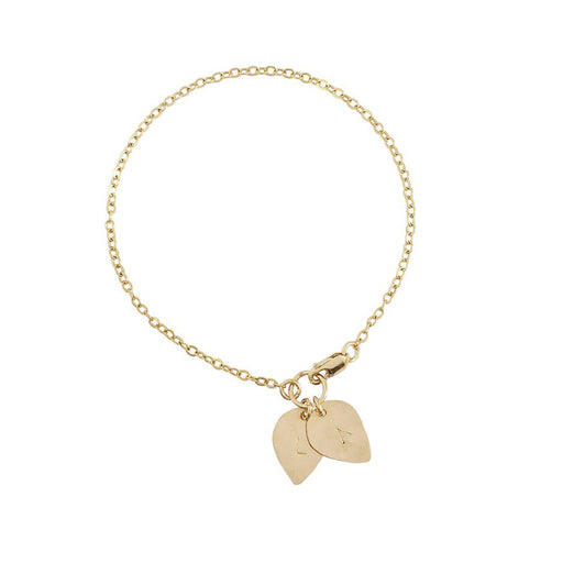 "925 Sterling Silver Personalized Double Lotus Petal Charm Bracelet Adjustable 6""-7.5"""