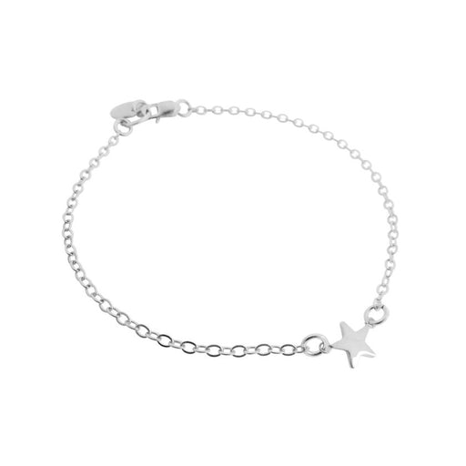 "925 Sterling Silver Personalized Mini Star Bracelet Adjustable 6""-7.5"""