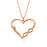 "Copper/925 Sterling Silver Personalized  Heart Name Necklace  -Adjustable 16""-20"""