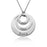 "925 Sterling Silver Personalized Three Discs Necklace Adjustable 16""-20"""