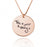 "925 Sterling Silver Personalized Engraved Circle Signature Necklace Adjustable 16""-20"""