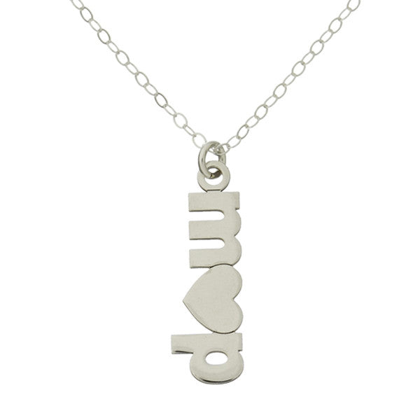 "925 Sterling Silver Personalized Double Initial Plate With A Heart Adjustable 16""-20"""
