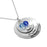 "925 Sterling Silver Personalized Round Engraved Necklace Adjustable 16""-20"""