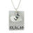 "925 Sterling Silver Personalized Double Charm Engraved Necklace Adjustable 16""-20"""