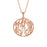 "Copper/925 Sterling Silver Personalized Monogram Necklace Adjustable 16""-20"""