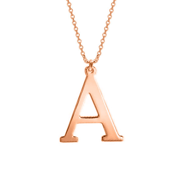 "925 Sterling Silver Personalized Initial Necklace Adjustable 16""-20"""