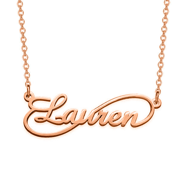 "925 Sterling Silver Personalized Infinity Name Necklace Adjustable 16""-20"""