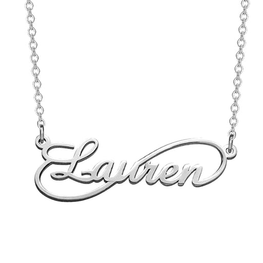 "925 Sterling Silver Personalized Single Infinity Necklace Adjustable 16""-20"""