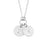 "925 Sterling Silver Personalized Double Mini Initial Necklace Adjustable 16""-20"""