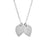 "925 Sterling Silver Personalized Double Lotus Petal Charm Necklace Adjustable 16""-20"""