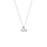 "925 Sterling Silver Personalized Alphabet City Necklace - Two Letters Adjustable 16""-20"""
