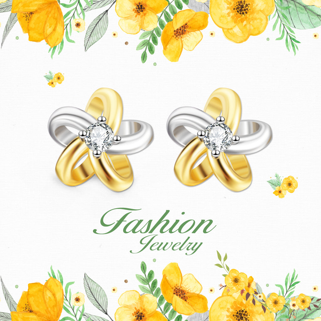 925 Sterling Silver Daisy Fashion Jewelry Attract Studs
