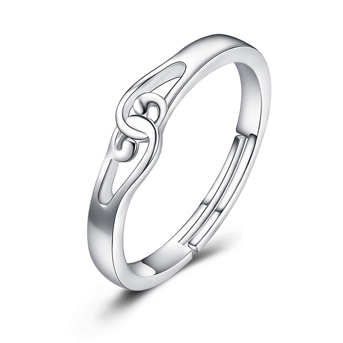 925 Sterling Silver Noble Elegant Infinity Ring