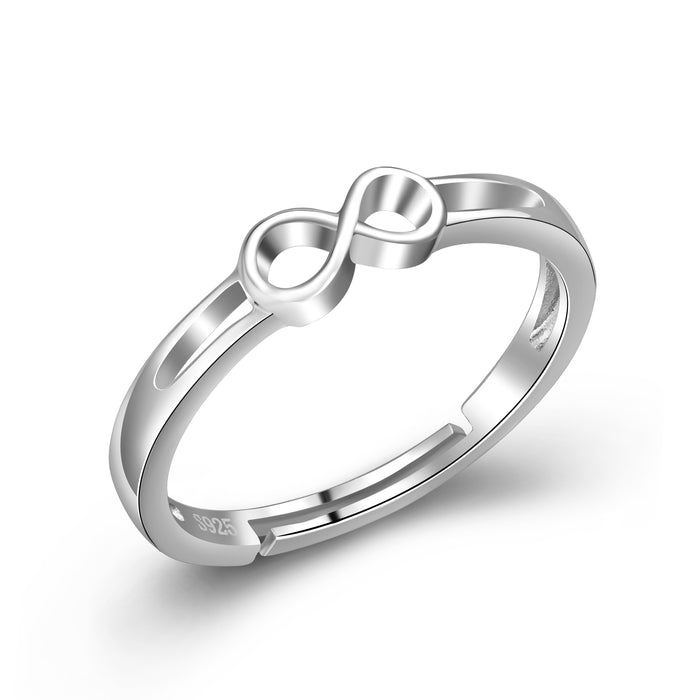 925 Sterling Silver Wedding Engagement Infinity Ring