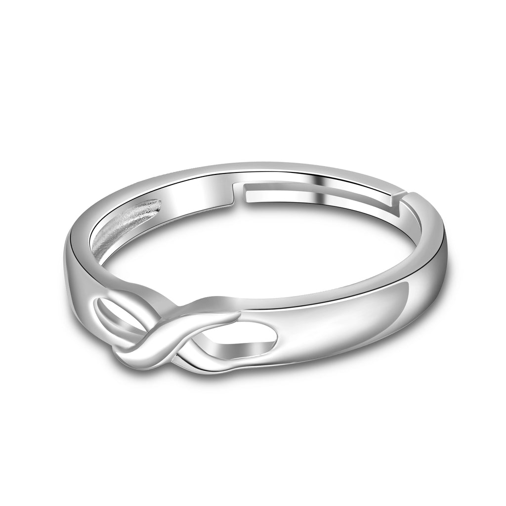 925 Sterling Silver Infinity Wedding Engagement Ring