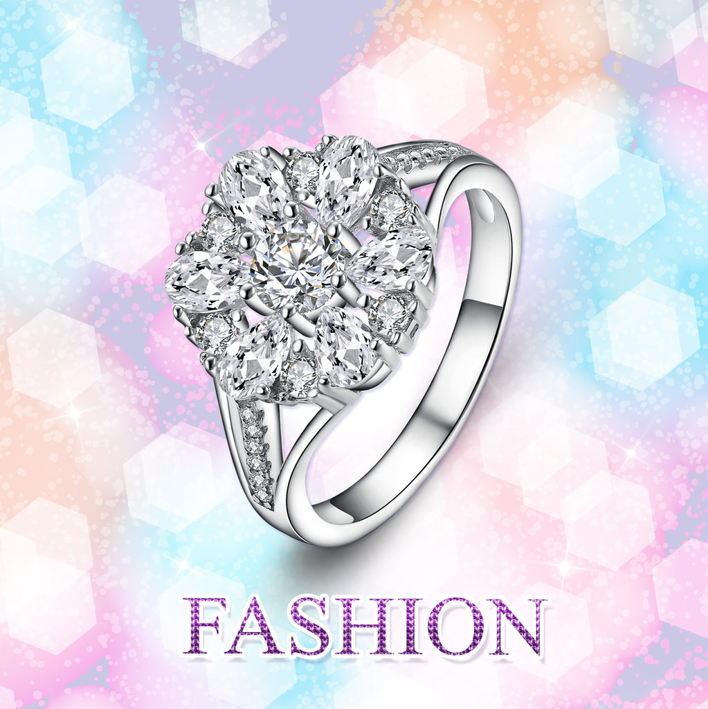 925 Sterling Silver Fashion Fine Jewels Ring
