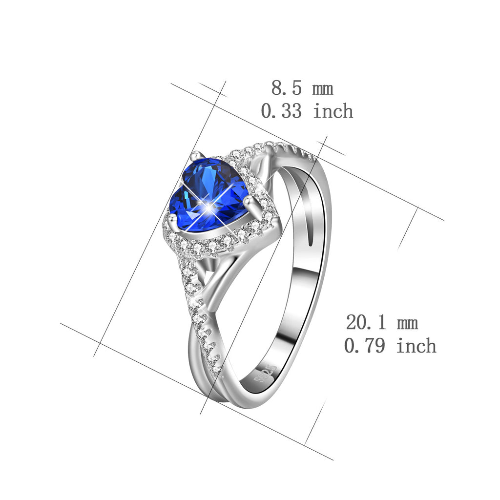 925 Sterling Silver Cubic Zirconia Infinity Love Ring