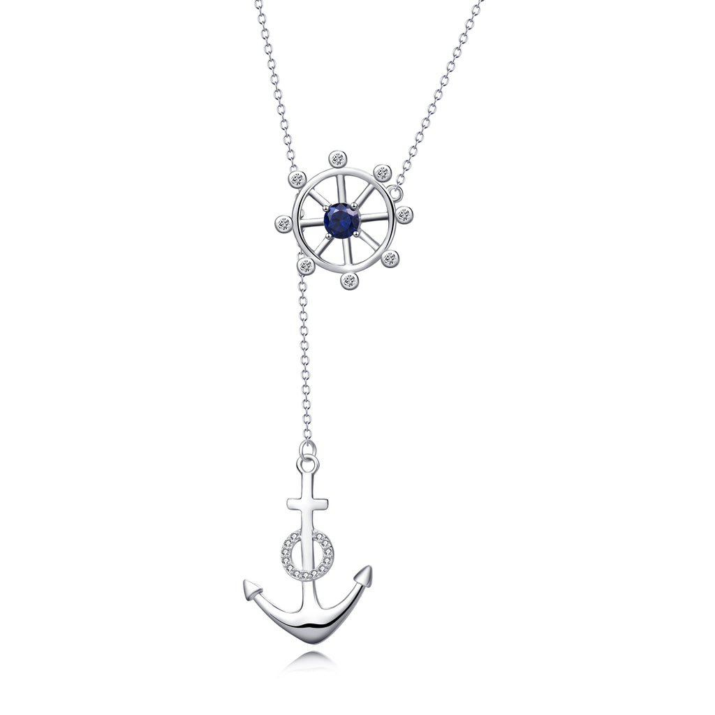 925 Sterling Silver Jewelry Rubber Anchor Personalized Necklace For Women Friends