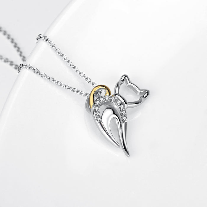 925 Sterling Silver Irregular Shape Pendant with Chain for Women Jewelry Necklace