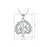 925 Sterling Silver Lucky Tree Jewels Charm Pendant Adjustable Chain Necklace