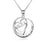 Mother's Gifts-925 Sterling Silver Non-Personalized Heart Pendant Necklace