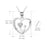 925 Sterling Silver Anchor Love Heart Lucky Pendant Necklace