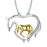 925 Sterling Silver Mother Baby Horse Two-Tone Necklace