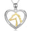 925 Sterling Silver Love Heart Charm Pendant Necklace