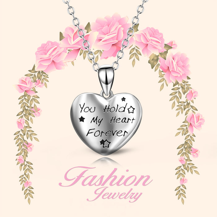 925 Sterling Silver You Hold My Heart Forever Star Necklace