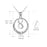 925 Sterling Silver Always My Daughter Forever My Friend Infinity Round Pendant Necklace