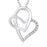 925 Sterling Silver Twisted Love Heart Fine Jewel Necklace