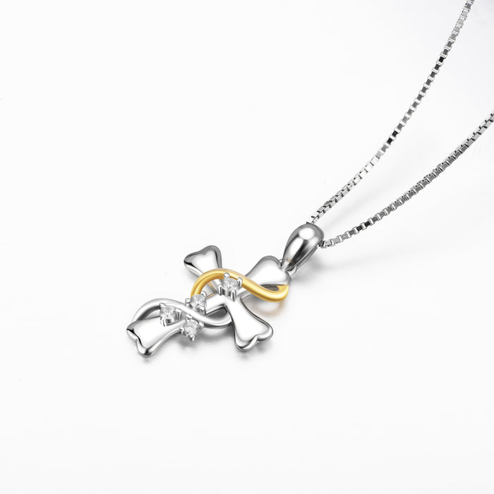925 Sterling Silver Religious Cross Fine Jewels Necklace
