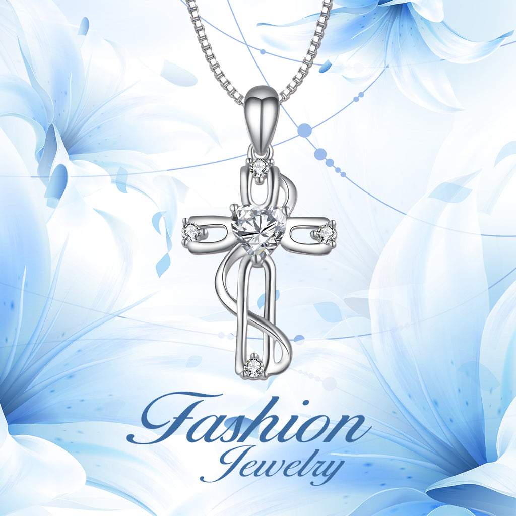 925 Sterling Silver Celtic Knot Cross Religious Fine Jewels Necklace