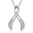 925 Sterling Silver Tree Branch Jewels Pendant Necklace