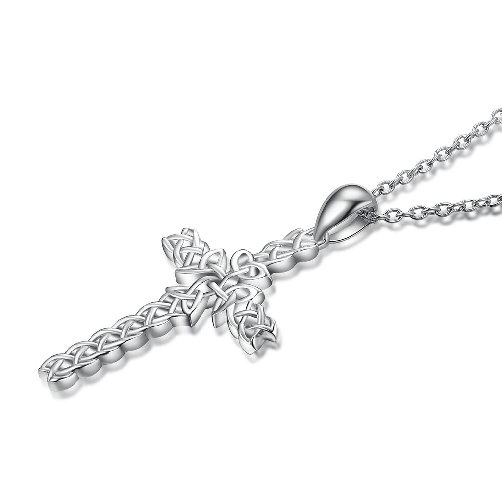 925 Sterling Silver Cross Weave Attract Pendant For Women