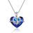 925 Sterling Silver Mother Daughter Necklace with Swarovski Crystals Birthday Gifts for Mom